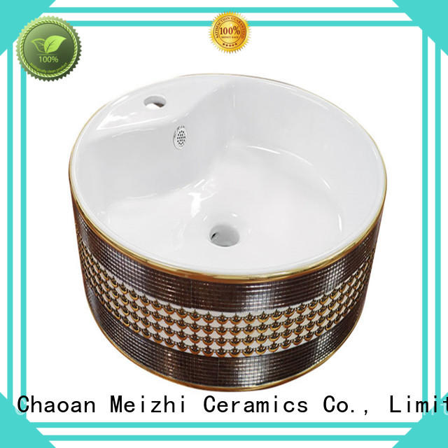 Meizhi elegant ceramic basin supplier for hotel