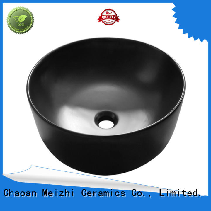 Meizhi ceramic black sink basin wholesale for hotel
