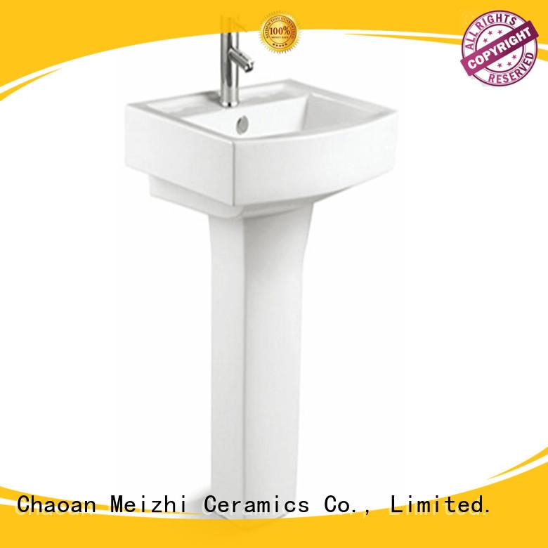 Meizhi contemporary pedestal basin factory for home