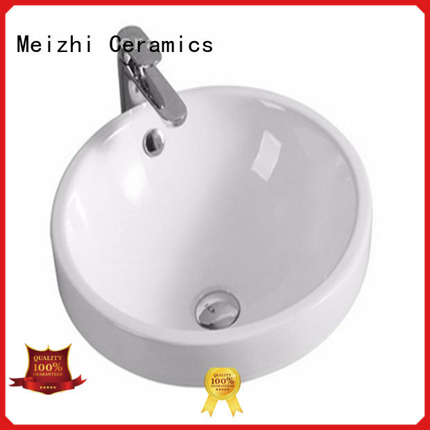 Meizhi above counter bathroom sink supplier for home