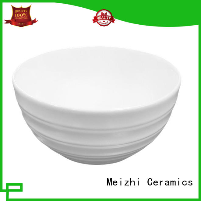Meizhi white ceramic wash basin factory price for hotel