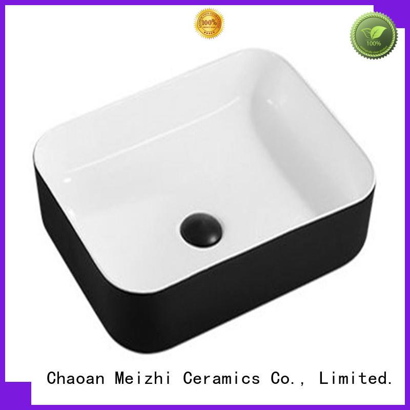 custom design black bathroom basin supplier for hotel
