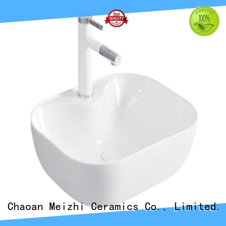 Meizhi printed gold wash basin customized for hotel