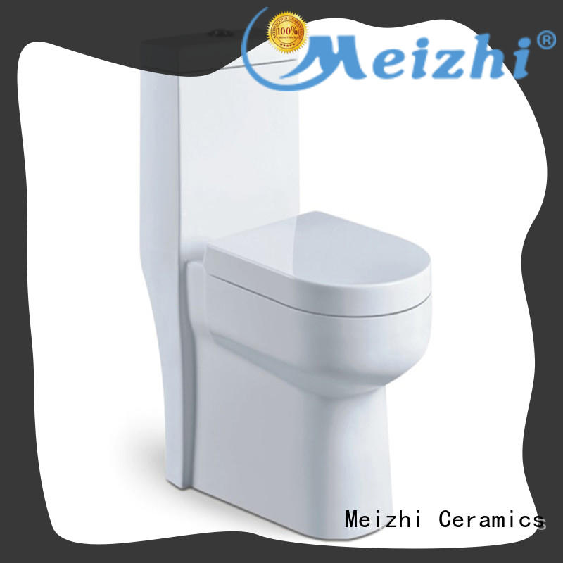 Meizhi square one piece elongated toilet with good price for bathroom