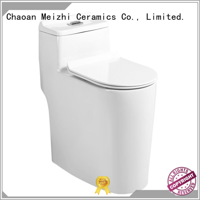 Meizhi self-cleaning one piece elongated toilet supplier for washroom