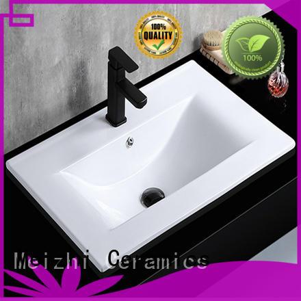 Meizhi vanity basin supplier for washroom