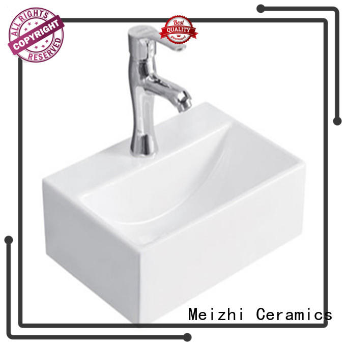 Meizhi printed wash basin size manufacturer for home