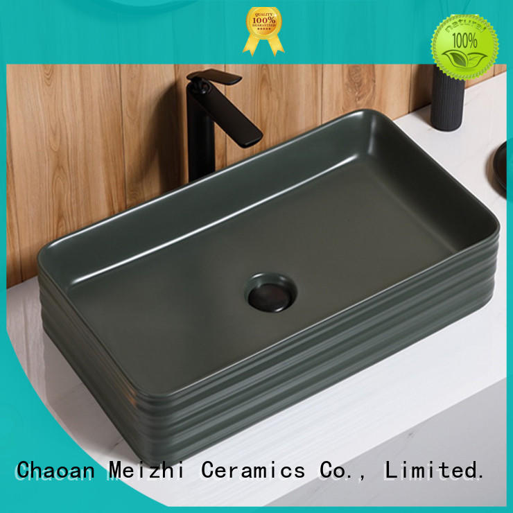 Meizhi black basin factory for bathroom