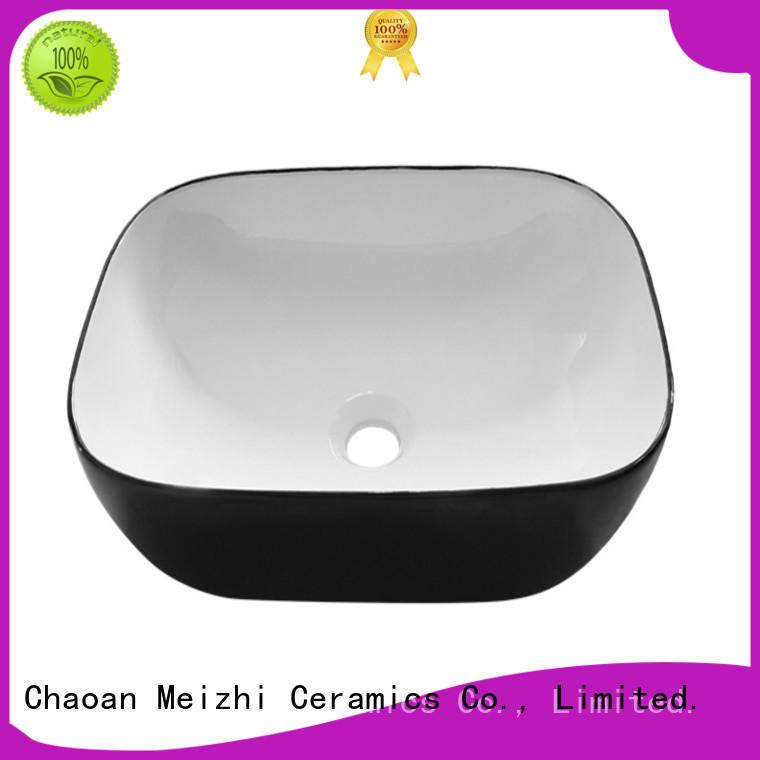 custom design black bathroom sink factory price for washroom