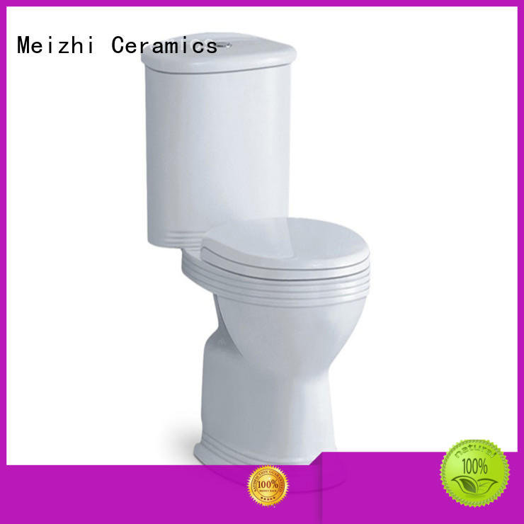Meizhi two piece toilet supplier for hotel