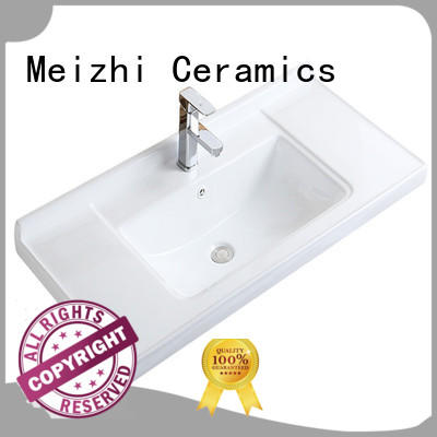 Meizhi bathroom basins and cabinets directly sale for hotel