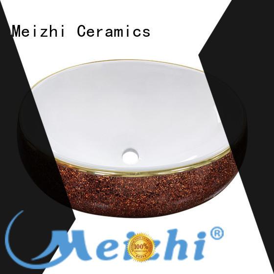 Meizhi fancy ceramic wash basin factory price for bathroom