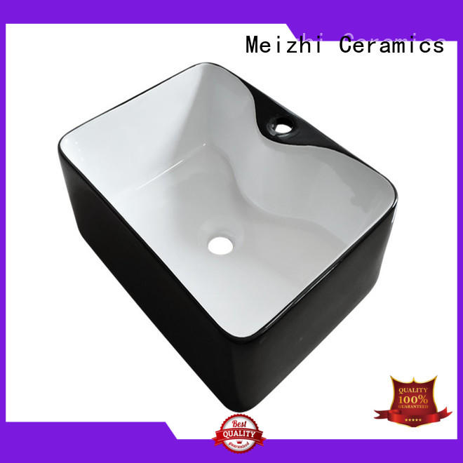 Meizhi black basin factory price for hotel