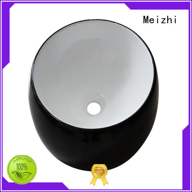 Meizhi popular black bathroom basin custom for cabinet