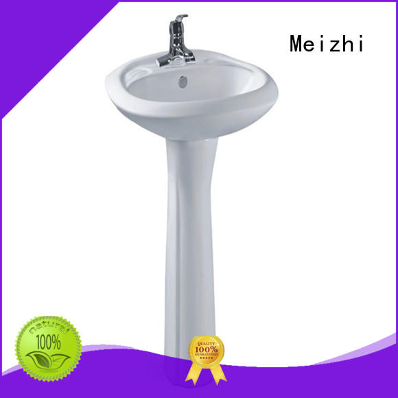 Meizhi contemporary pedestal lavatory supplier for washroom