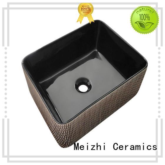 Meizhi custom design black bathroom sink supplier for hotel