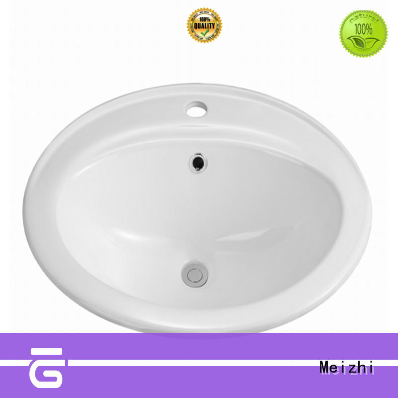 Meizhi high quality counter top basin unit supplier for home