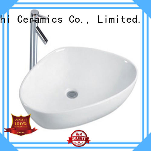 Meizhi white ceramic wash basin wholesale for washroom