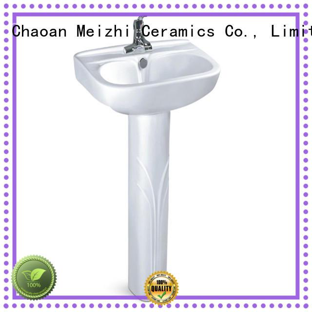 Meizhi full pedestal basin customized for bathroom