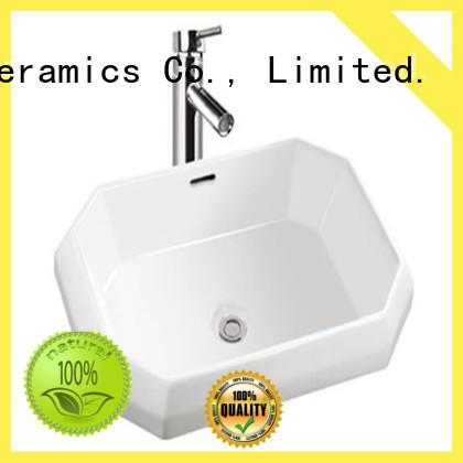 Meizhi white ceramic basin customized for hotel