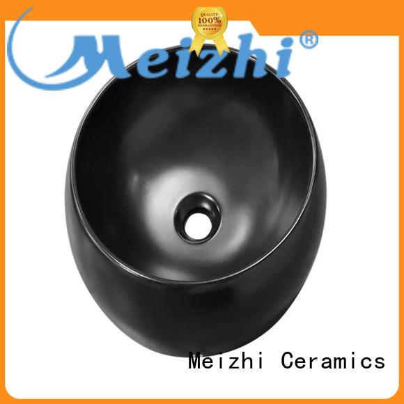 Meizhi modern basin black supplier for bathroom