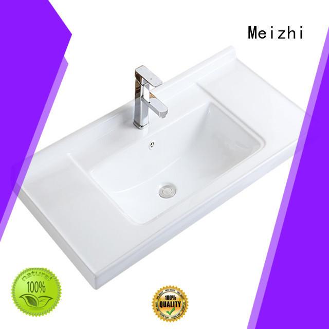 Meizhi ceramic hand wash basin customized for home
