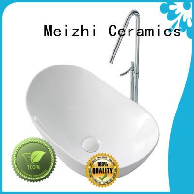 Meizhi elegant toilet hand basin customized for bathroom