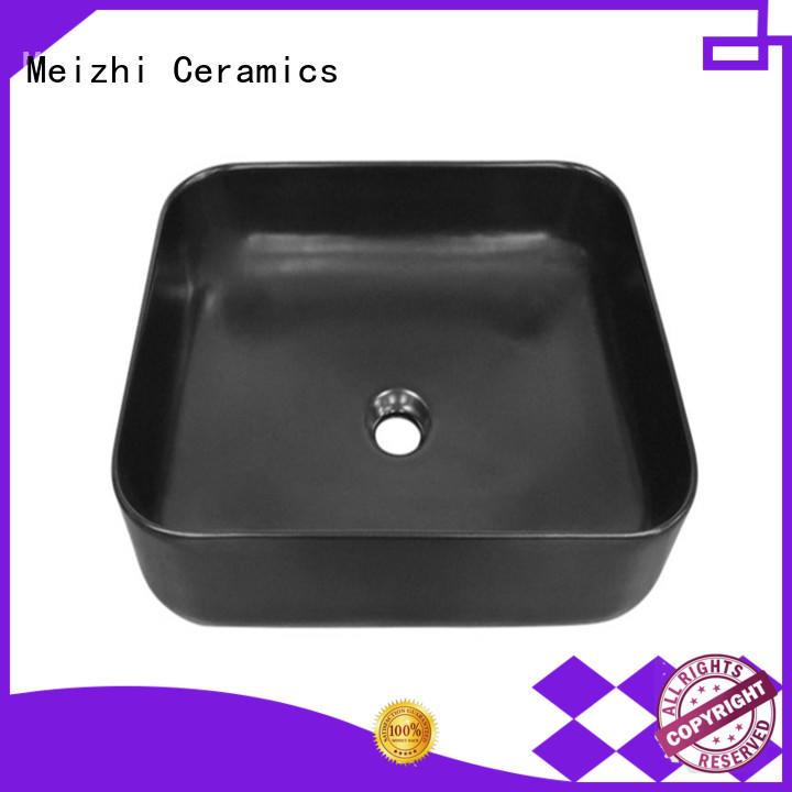 Meizhi modern black bathroom basin factory for bathroom