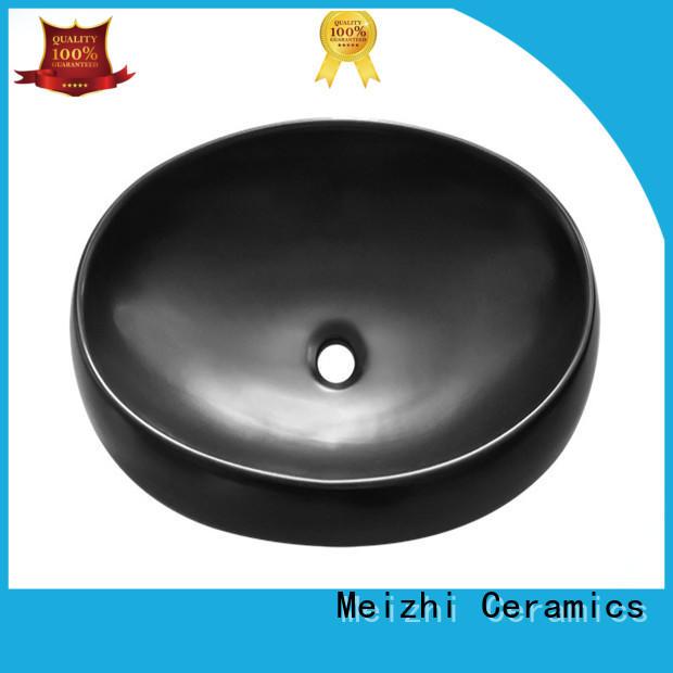 Meizhi ceramic black bathroom basin factory price for hotel