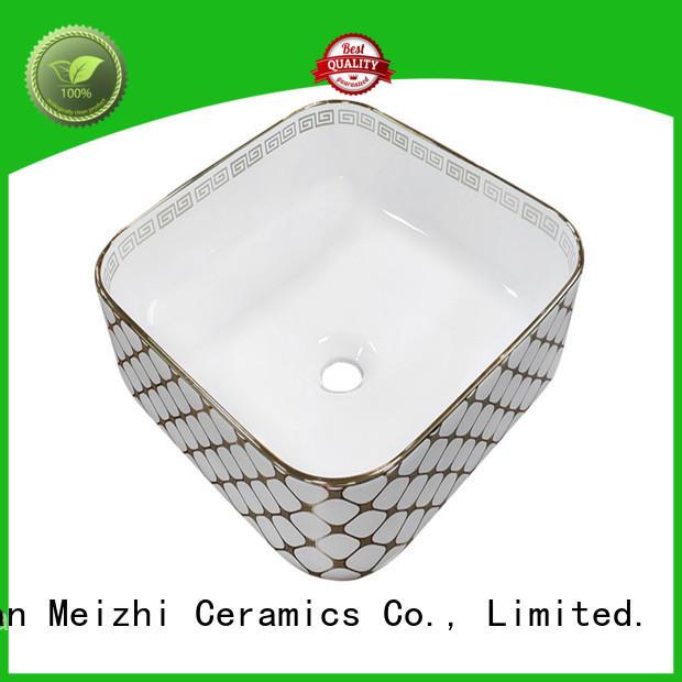 Meizhi fancy toilet wash basin customized for hotel