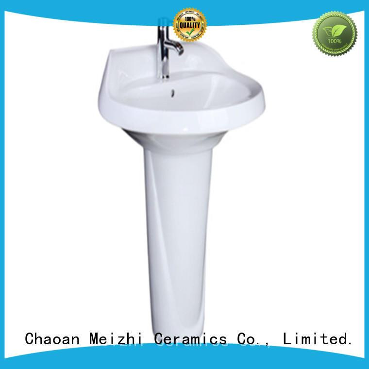 Meizhi ceremic wash basin furniture customized for hotel