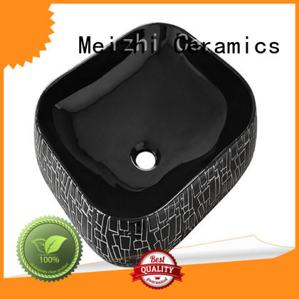 Meizhi modern black bathroom basin custom for washroom