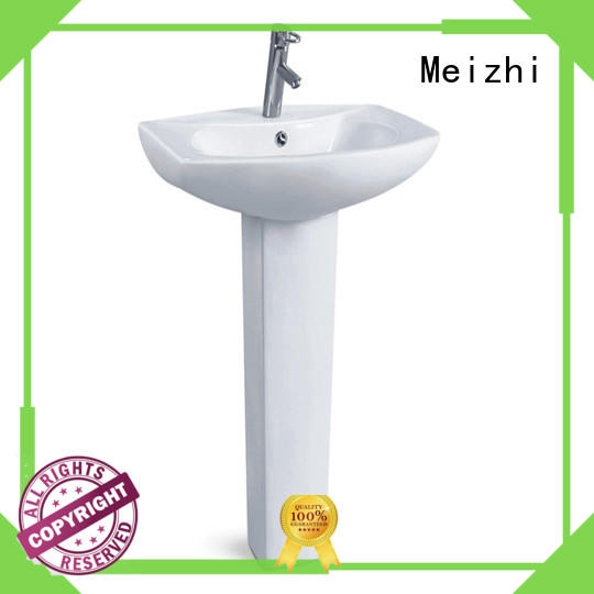 Meizhi high quality small pedestal sink factory for home