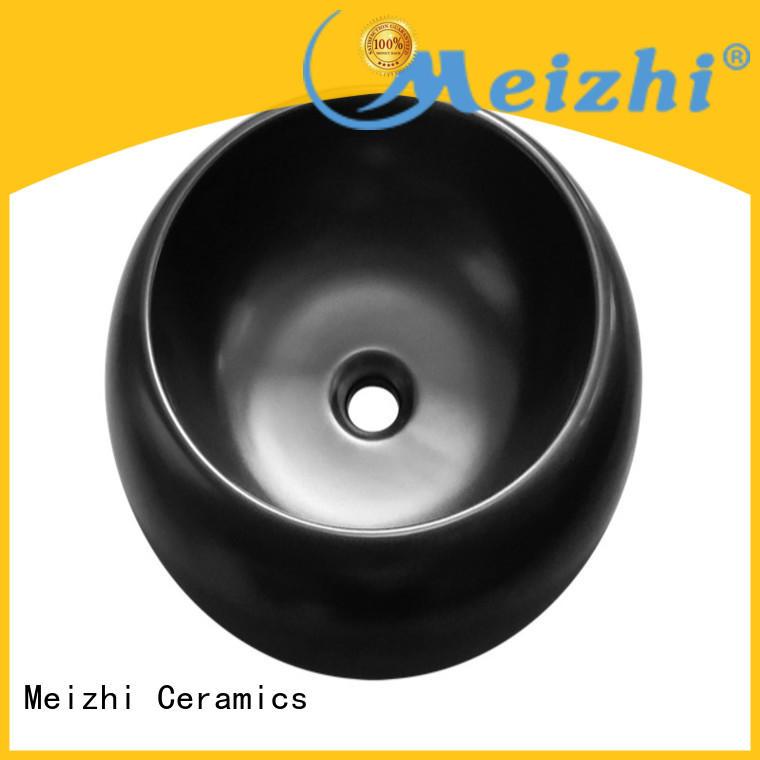 Meizhi black bathroom basin manufacturer for hotel