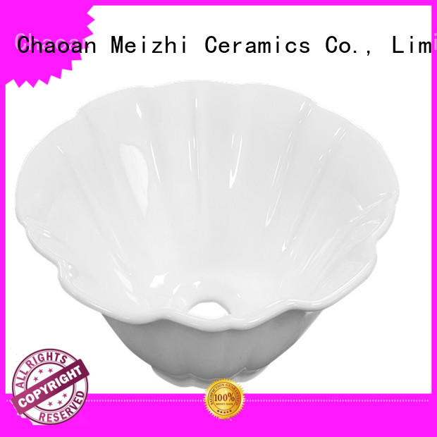 Meizhi fancy gold wash basin manufacturer for hotel