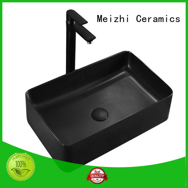 Meizhi black sink basin factory for hotel