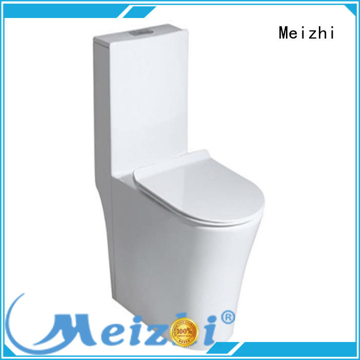 Meizhi self-cleaning one piece round toilet customized for bathroom