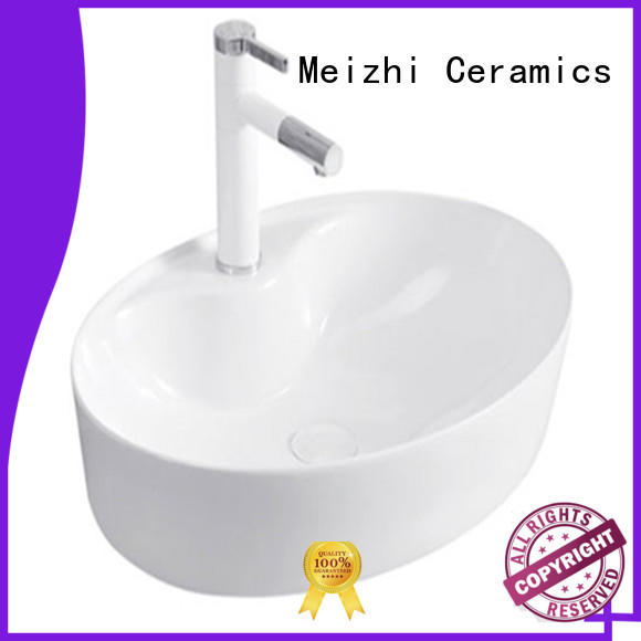 Meizhi hot selling ceramic wash basin factory price for bathroom