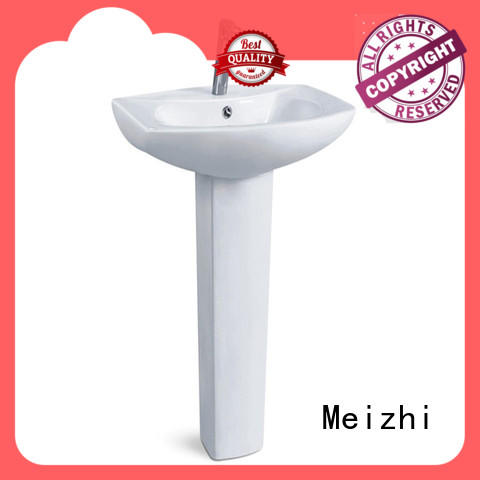 Meizhi half pedestal basin with good price for home