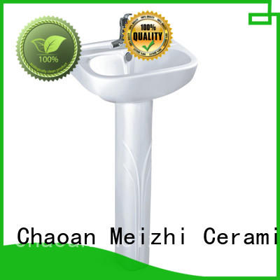 Meizhi ceremic half pedestal basin directly sale for bathroom