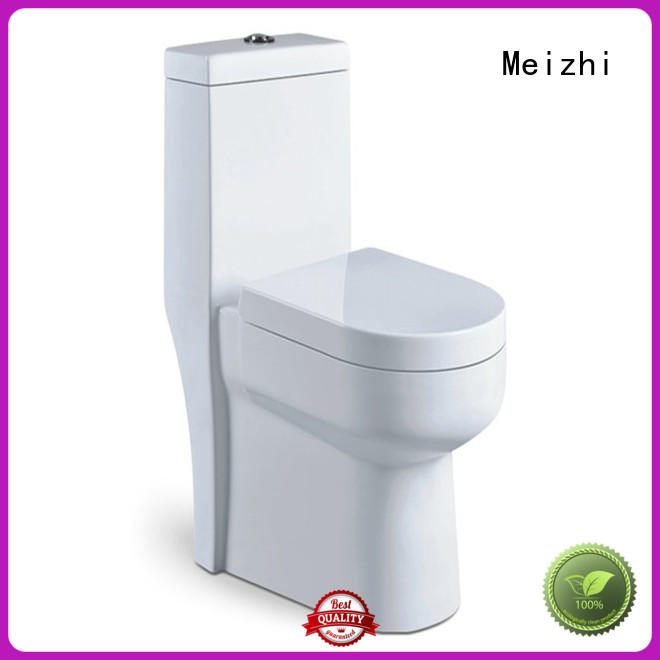 Meizhi square modern one piece toilet supplier for washroom