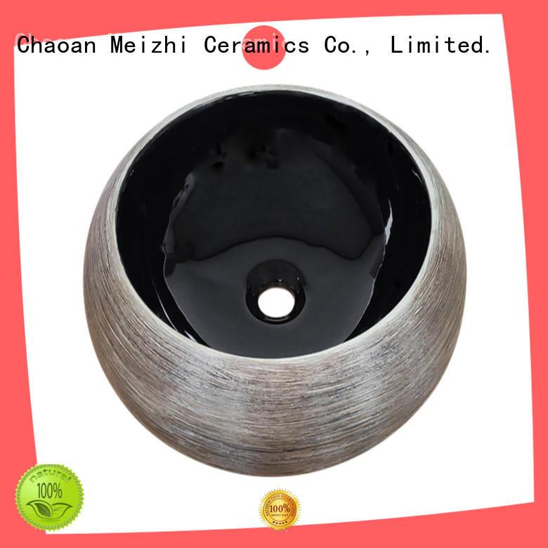 custom design black bathroom basin factory price for hotel