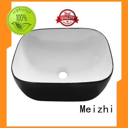 ceramic black bathroom sink factory price for hotel