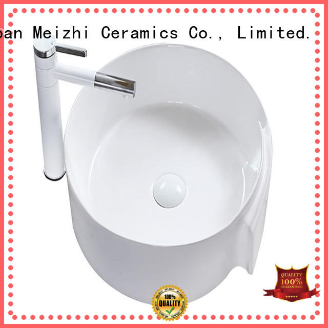 Meizhi white stylish wash basin manufacturer for home