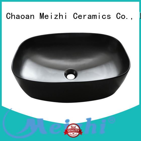 Meizhi popular black basin factory for cabinet