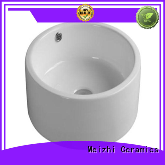 Meizhi gold ceramic wash basin factory price for hotel
