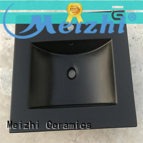 Meizhi custom design black bathroom sink wholesale for hotel