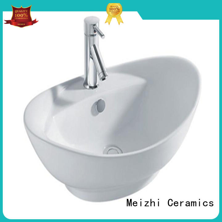 Meizhi elegant toilet basin factory price for hotel