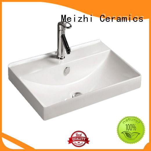 Meizhi ceramic basin unit manufacturer for washroom