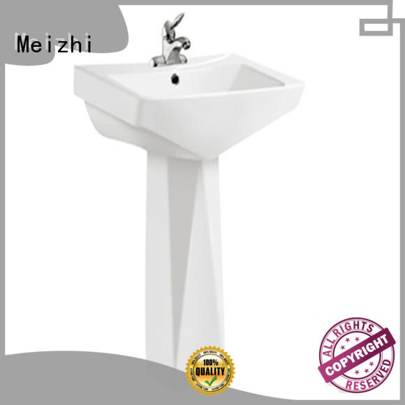 Meizhi pedestal wash basin with good price for hotel